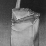 Belle Glade Gas Station, charcoal on paper, 30 x 90 inches