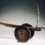 Neufchatel, patinated bronze, 14 x 4.5 x 21.5 inches