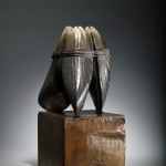 Family Ties, patinated bronze, 16 x 9 x 7.5 inches